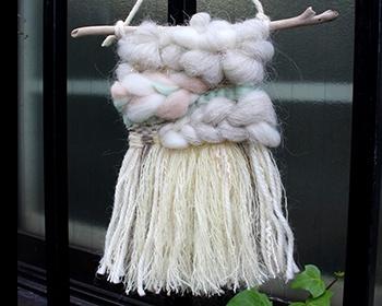 2018/10/29 Mai Oyamada 羊毛で造るウィービングタペストリー ワークショップ
